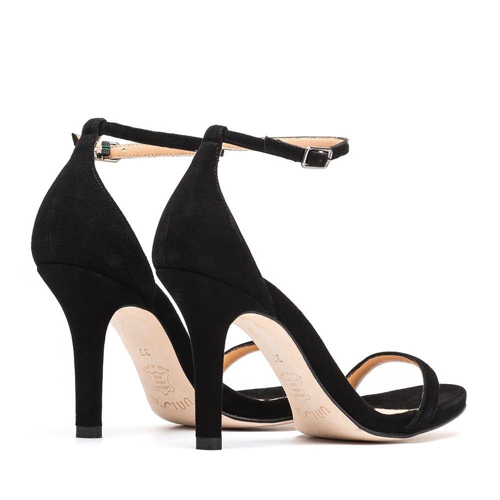 UNISA Sandale en daim talon YOLU_KS black 3