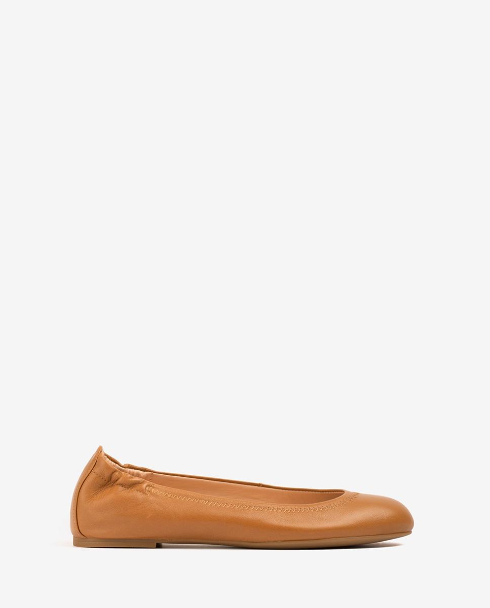 UNISA Bailarina piel marrón ALIMA_NS bisquit