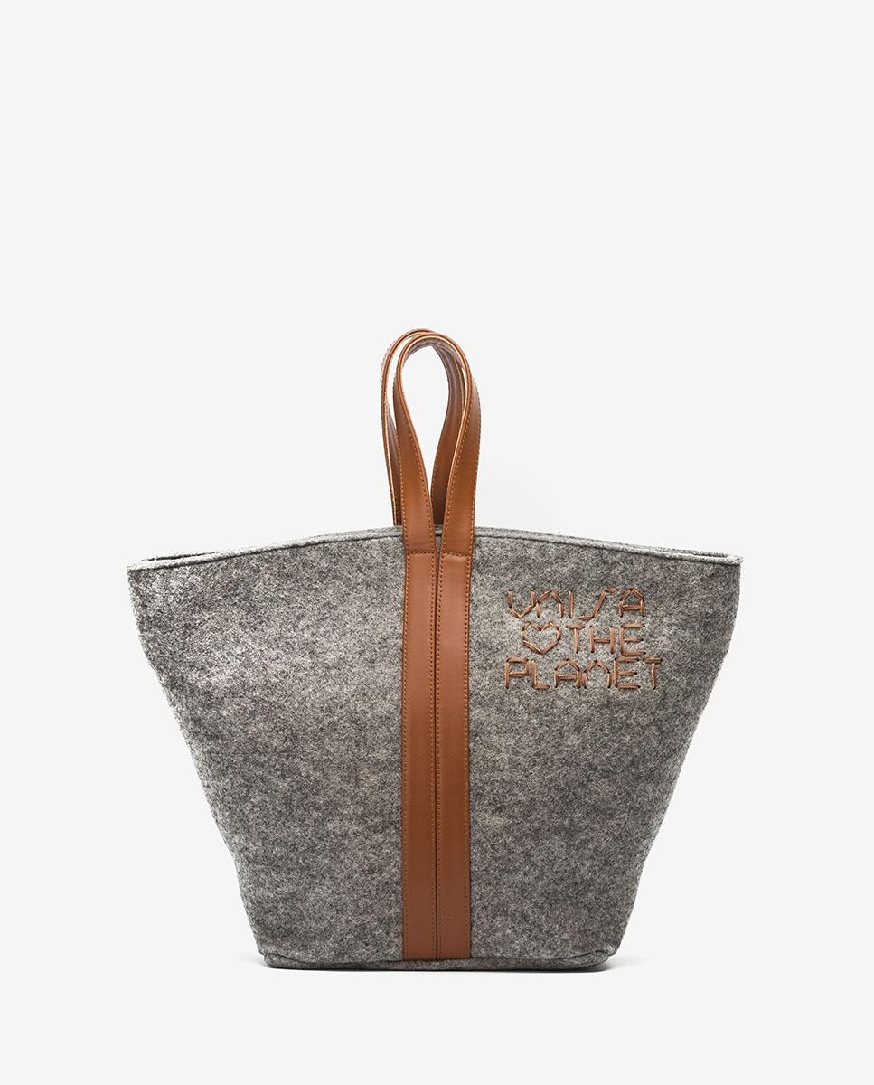 UNISA Ecowool shopper bag ZPATY_EW_CAN grigi/sadd 3
