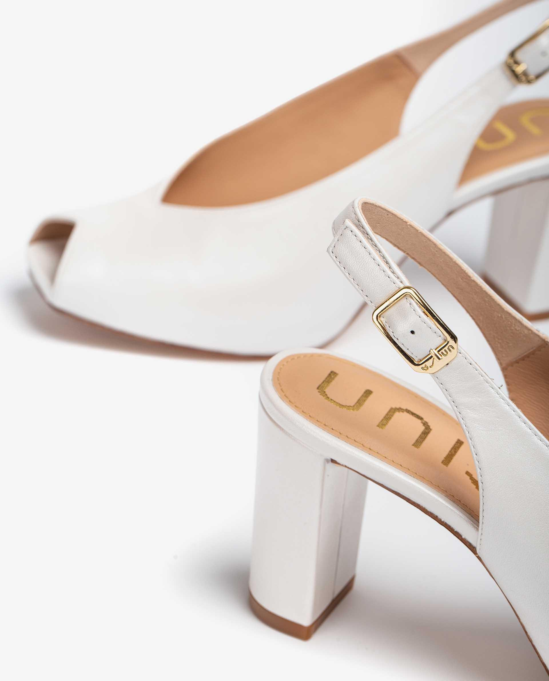 UNISA Peep toe de mariée en cuir ouvert à l'arrière  NAPLES_NA_N 3