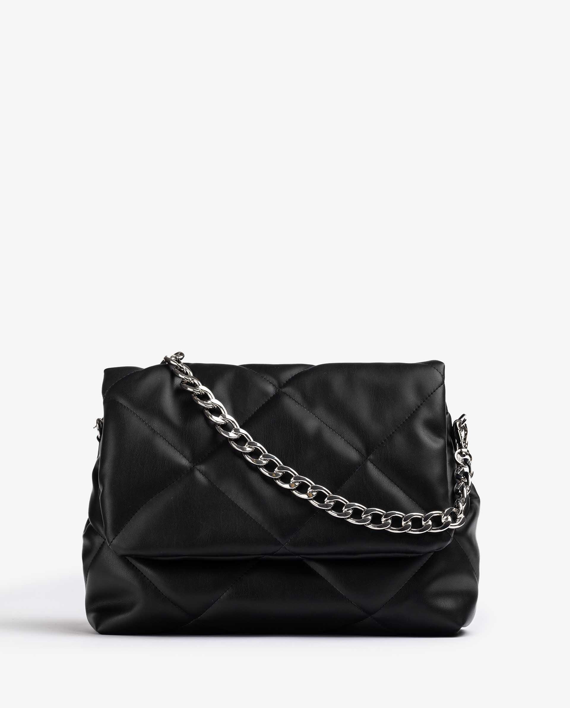 UNISA Grand sac en cuir matelassé de couleur noire  ZKERINA_SUP 3