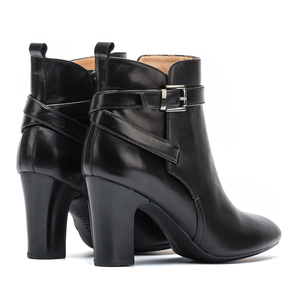 UNISA Bottine en cuir bride croisée UMBRIA_NE black 3