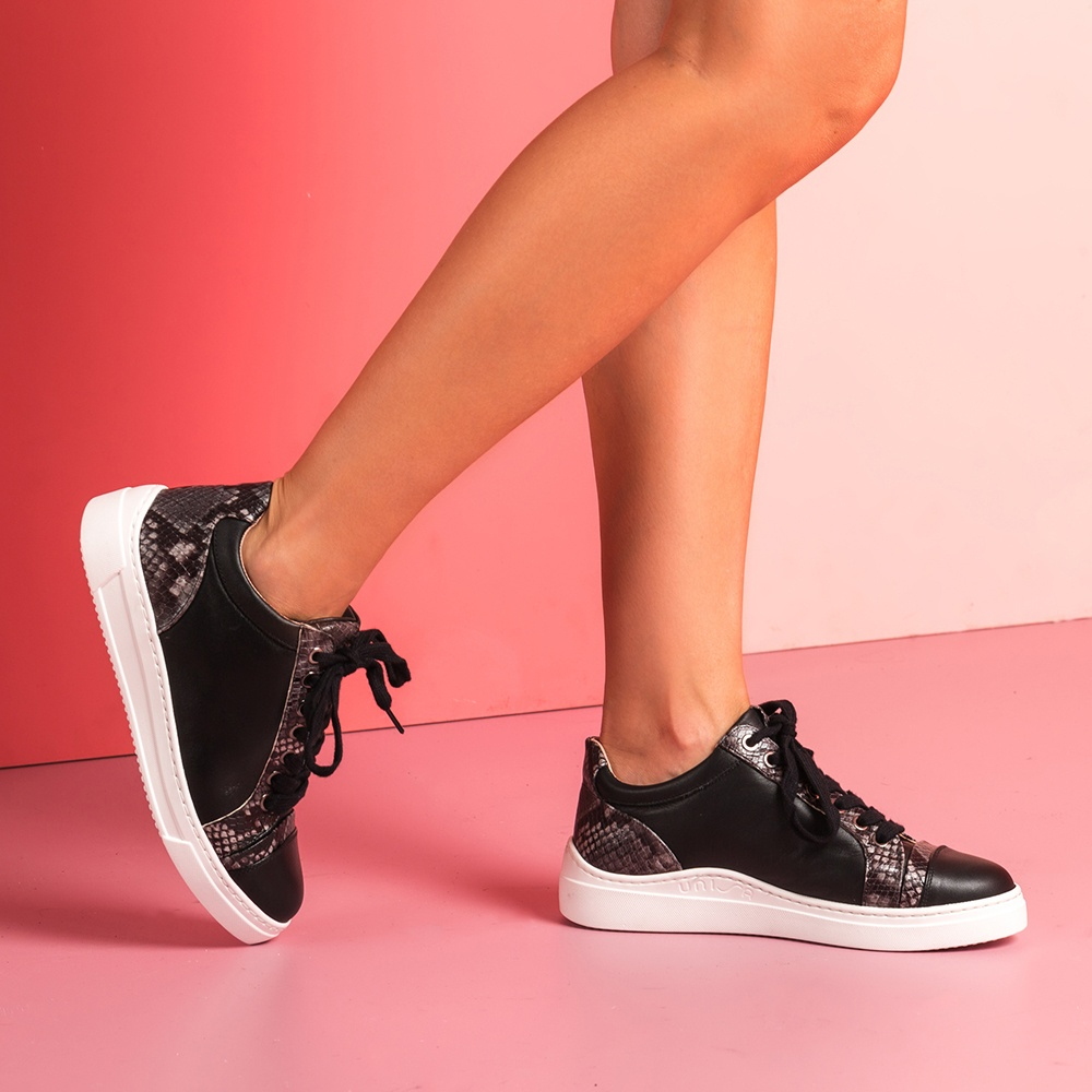 UNISA Chaussures de sport pièces print  FIYOLA_F19_NT_VP blk/tempes 3
