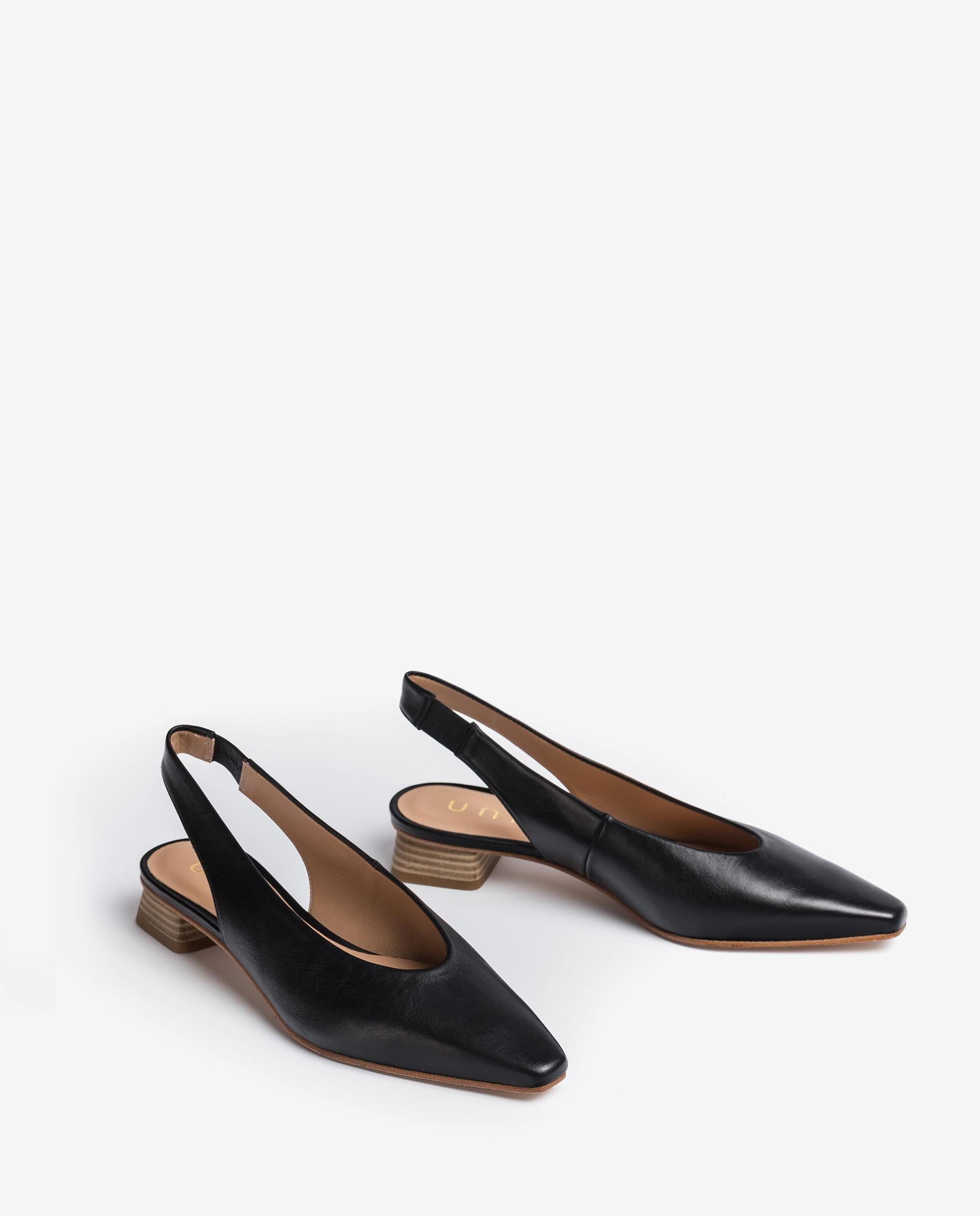 UNISA Chaussure ouverte à l'arrière en cuir style mocassin  GODFREY_MOA 3