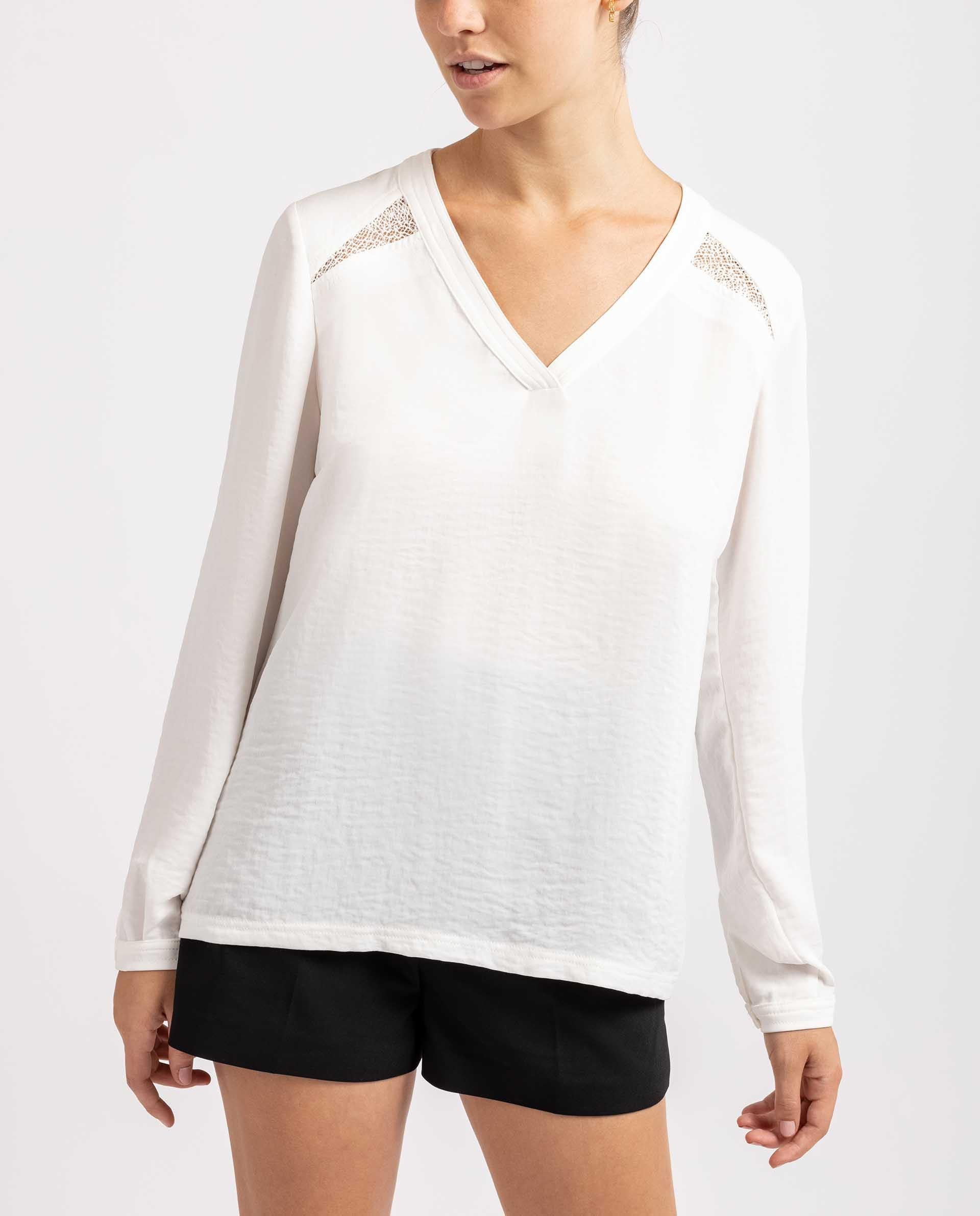 UNISA Camisa  con escote pico R_ELODIA