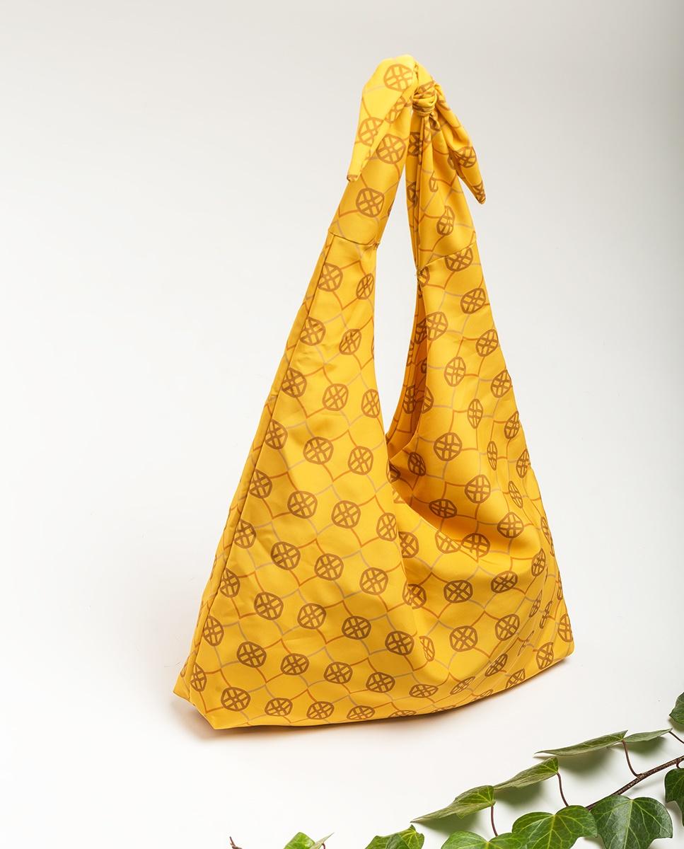 UNISA Sac Hobo tissu monogramme ZWENDY_FOU mustard 3