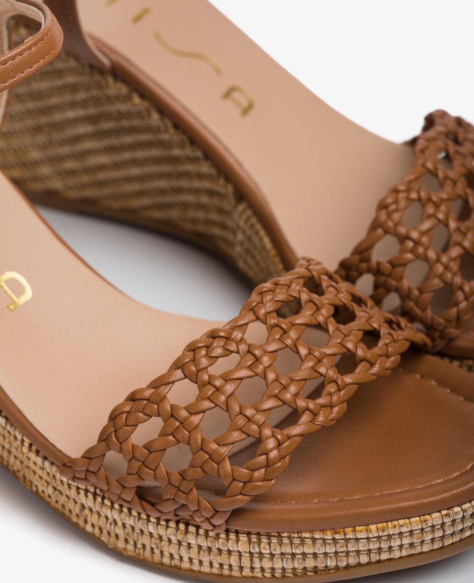 UNISA Sandale avec tressage en macramé  LOBI_21_NA 3