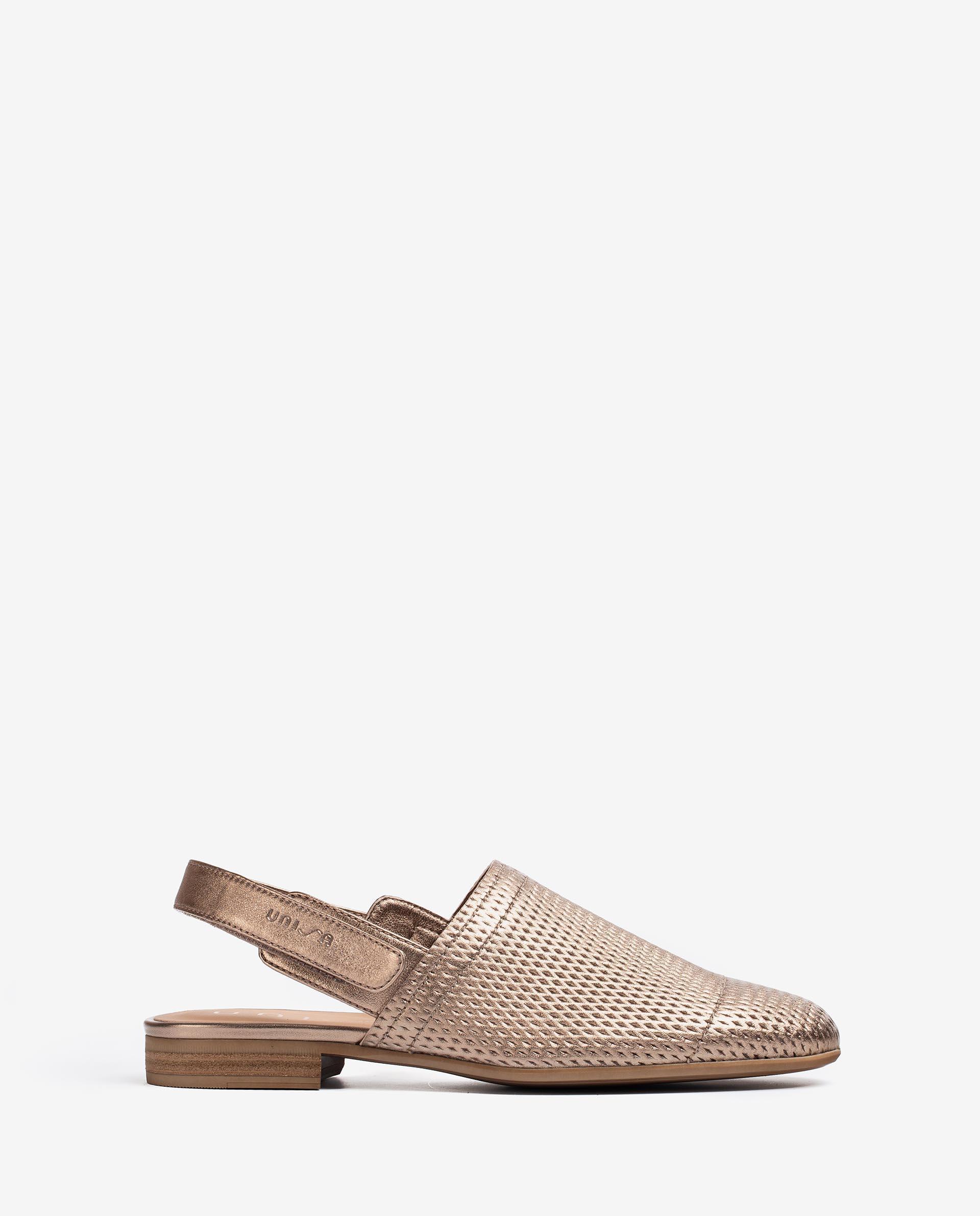 UNISA Chaussure ouverte à l'arrière en cuir effet métallisé  DAFROS_LMT 3