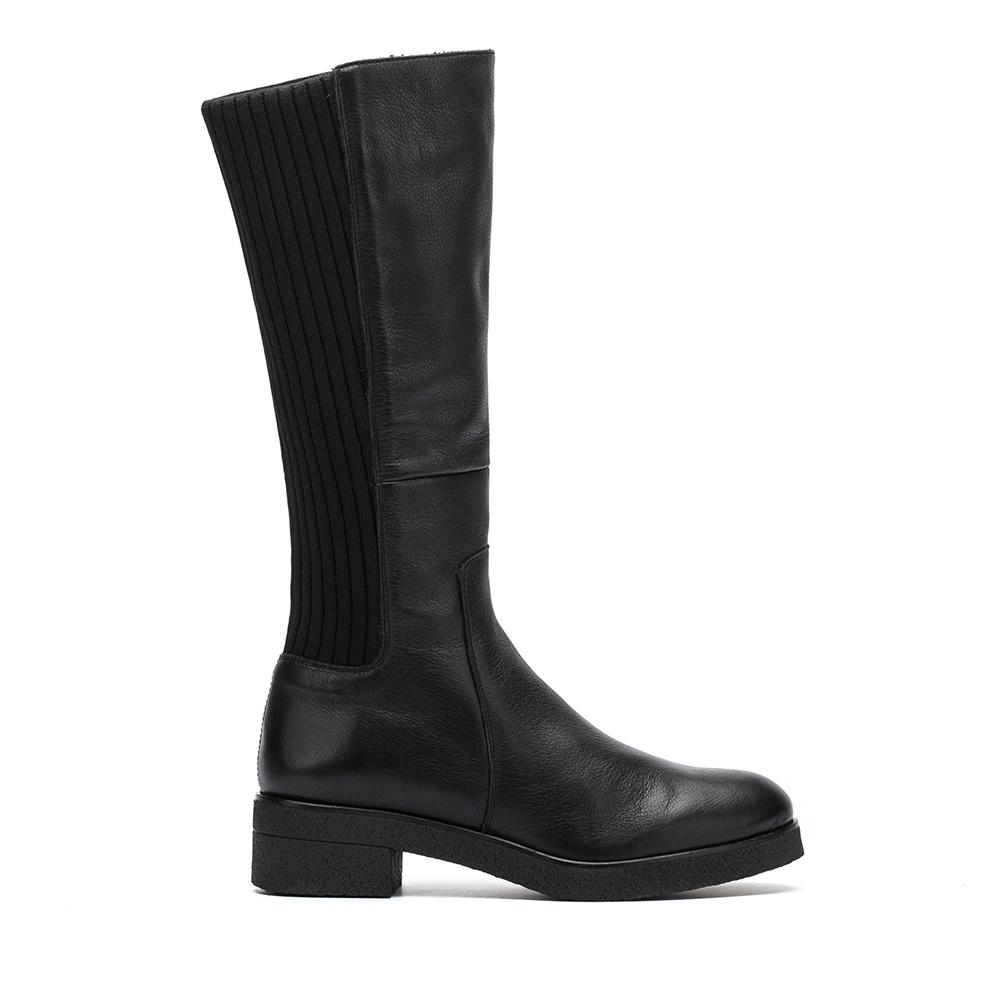 UNISA Bota de piel contraste calcetín  DOGUI_GLO black