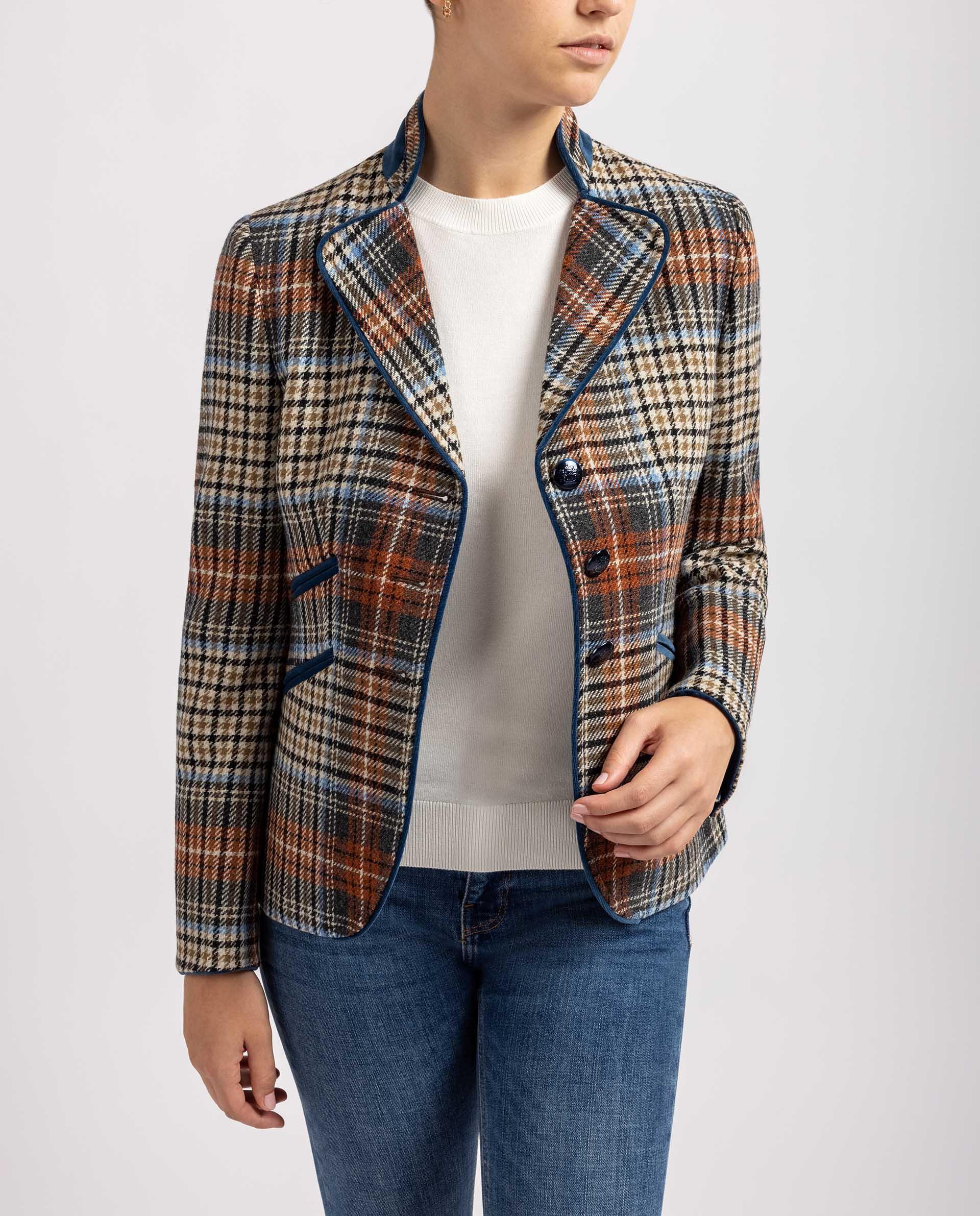 UNISA Blazer de lana estampada R_FRADES