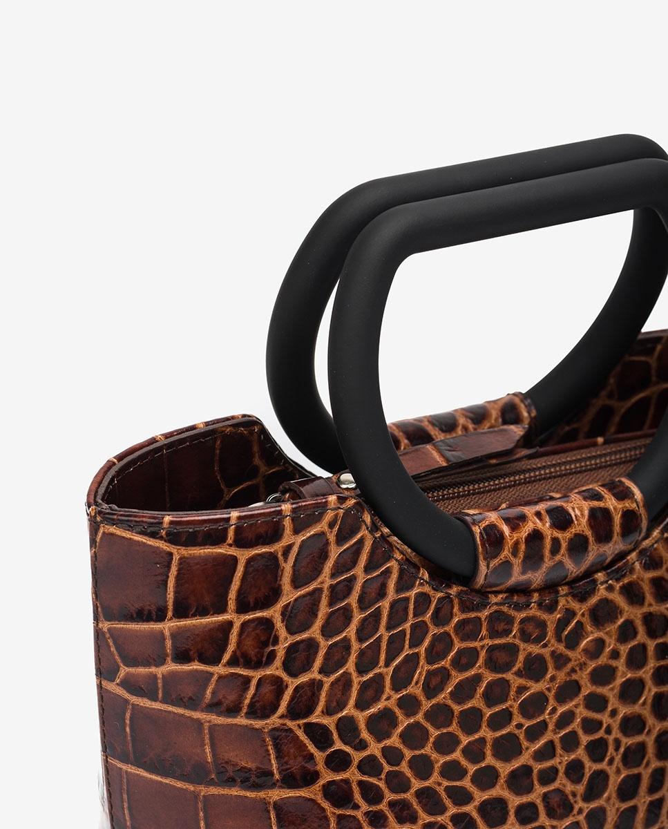 UNISA Handtasje basket bag met croco effect ZBADET_LAO wonka 4
