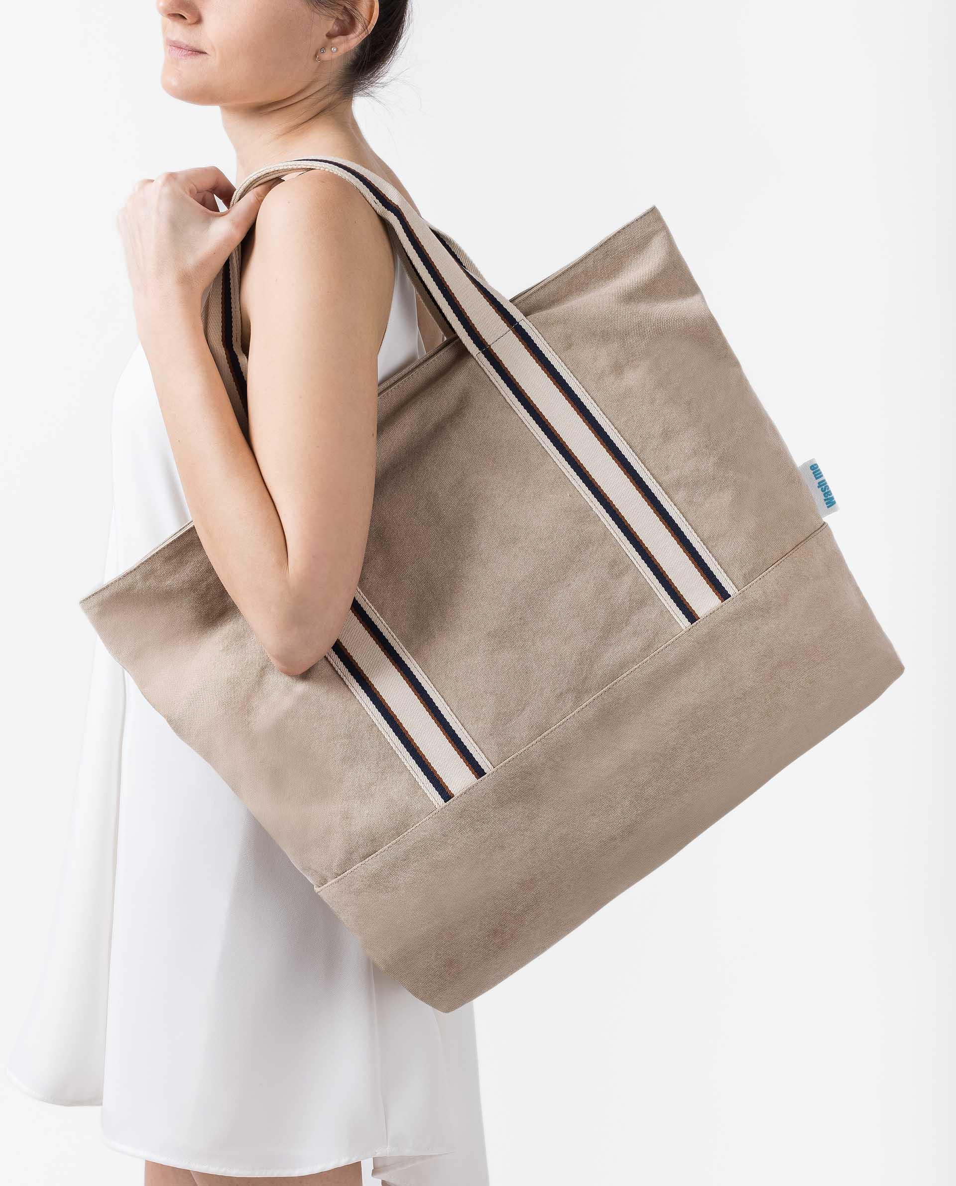 UNISA EcoLino bag with sport handle ZSYBIL_ECL 4