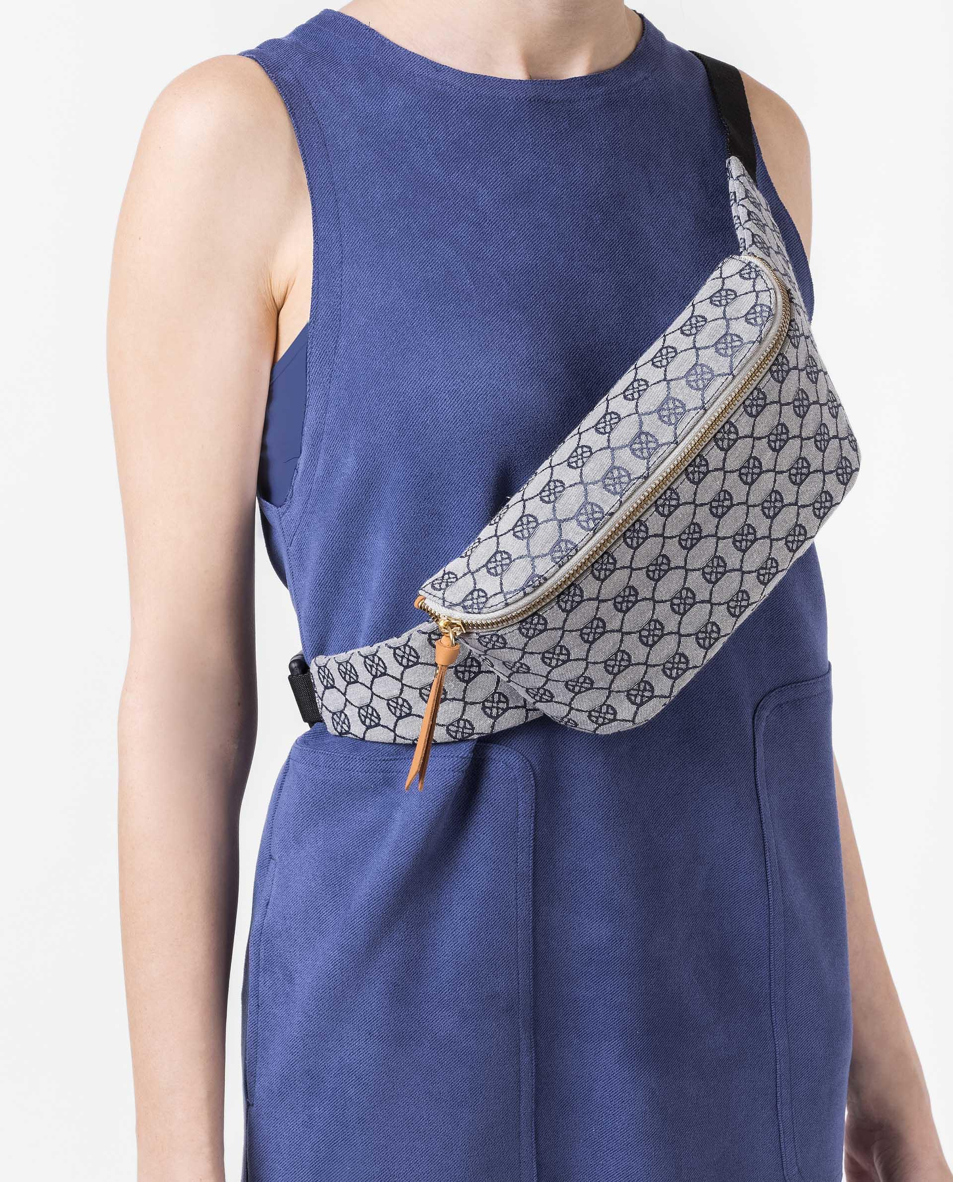 UNISA Fabric belt bag with monogram ZDUOMO_21_JAC 4
