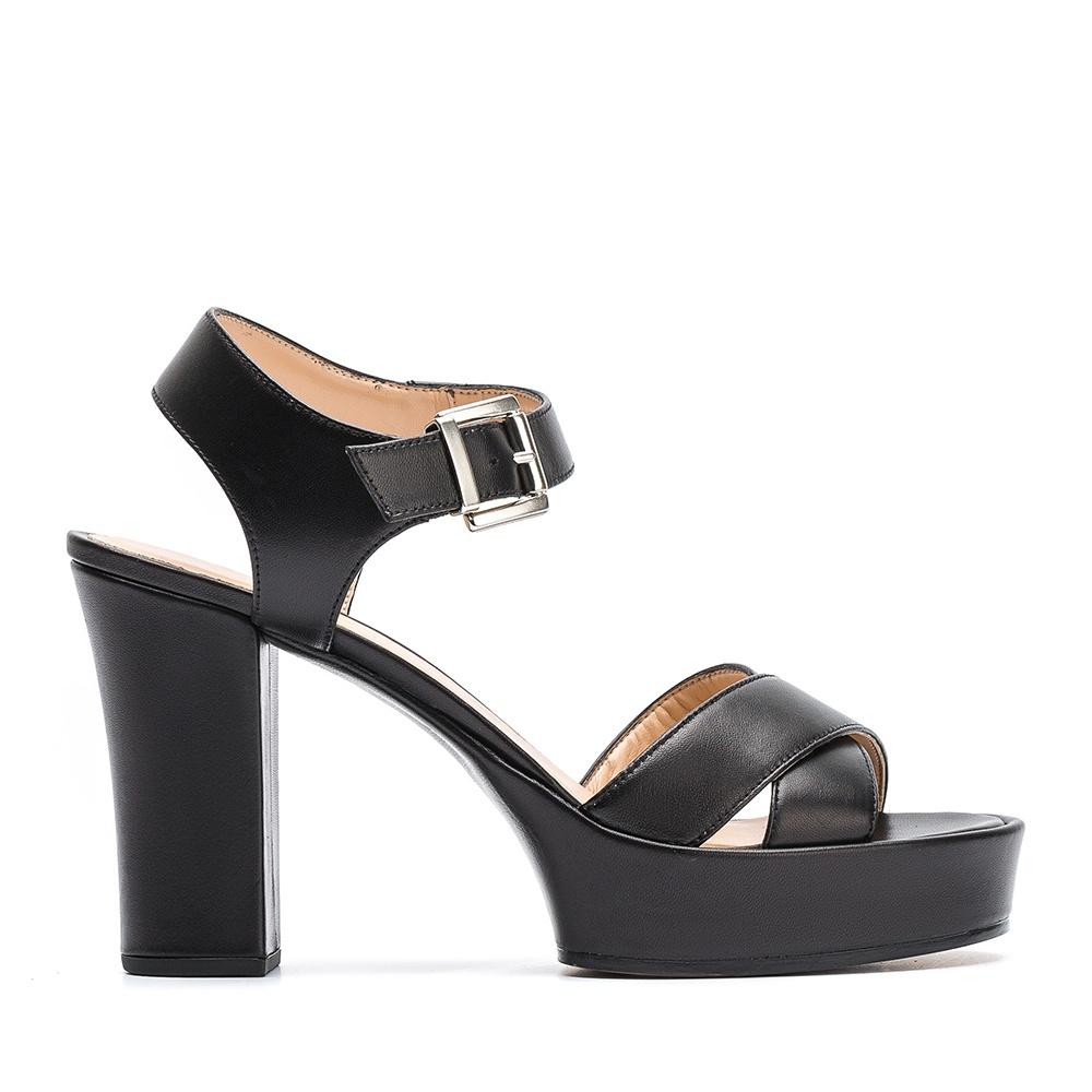 b6cea31e0 UNISA VIKEN_NA - Leather sandal platform Viken | Unisa heel sandals