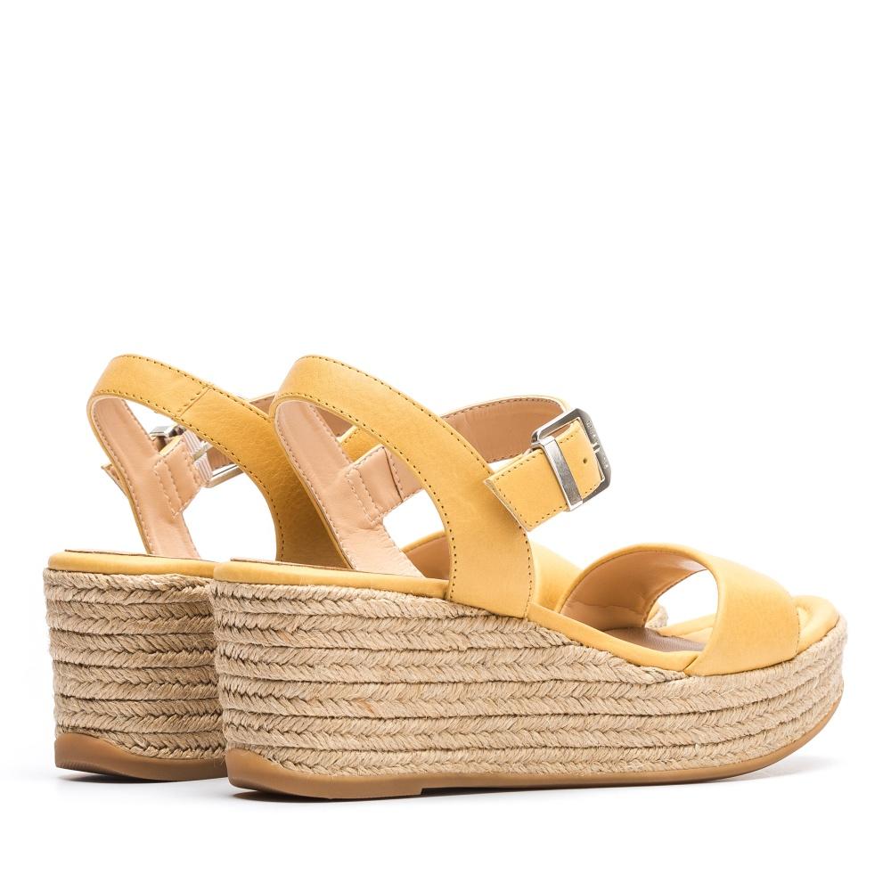 c289620af1b UNISA Jute wedge leather sandal KALKA STY yellow 2