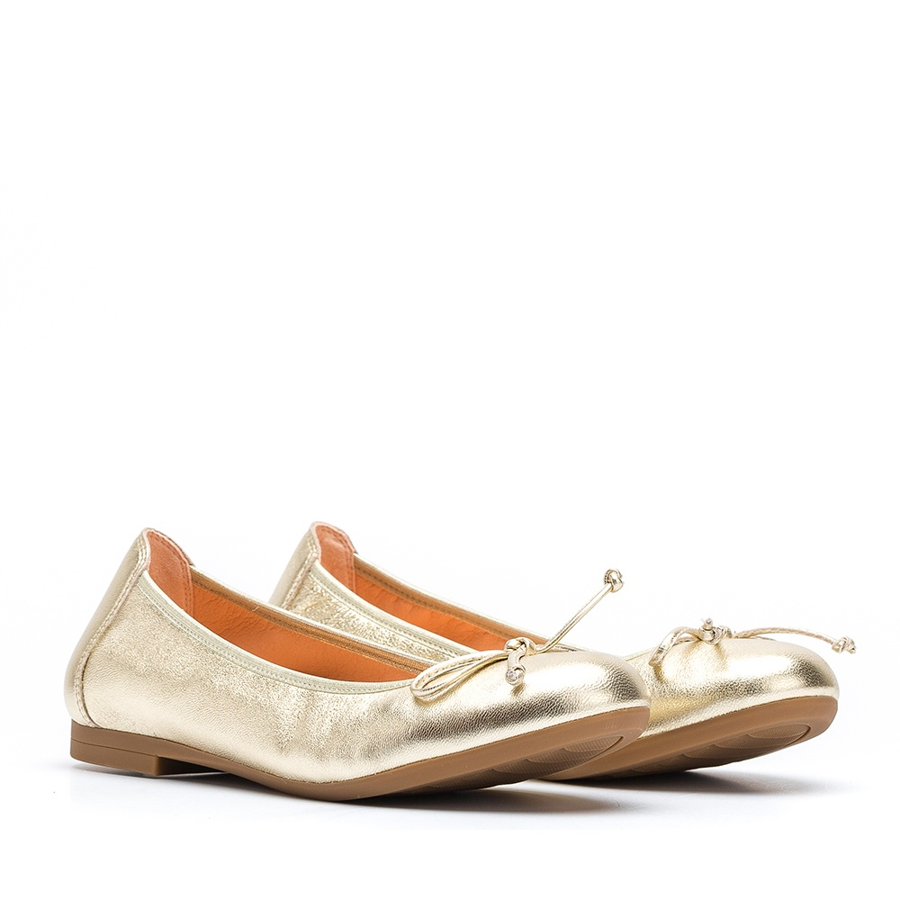 05650fa6af Little girl metallic leather ballerina