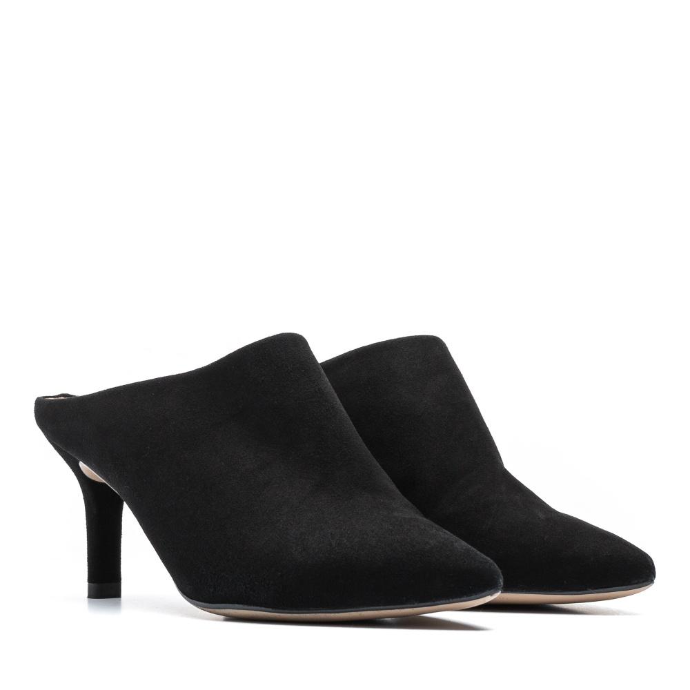 d282cf49731 Black heeled mule