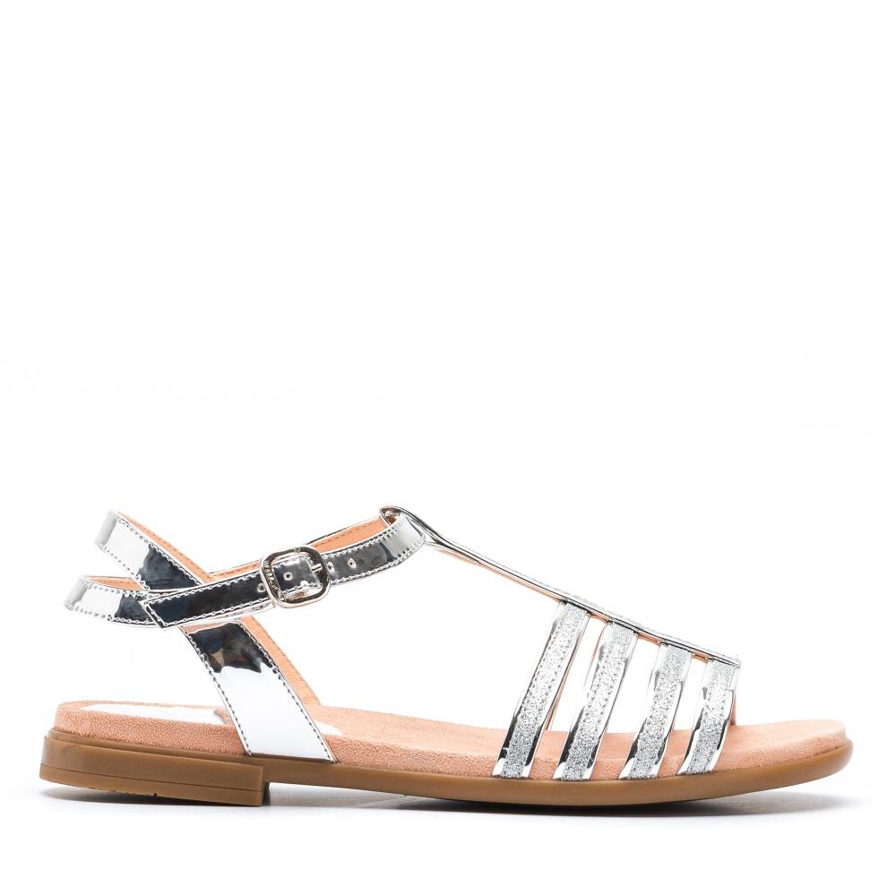 3af01337a28c UNISA LOTRE 19 SP - Glitter silver contrast sandals Lotre