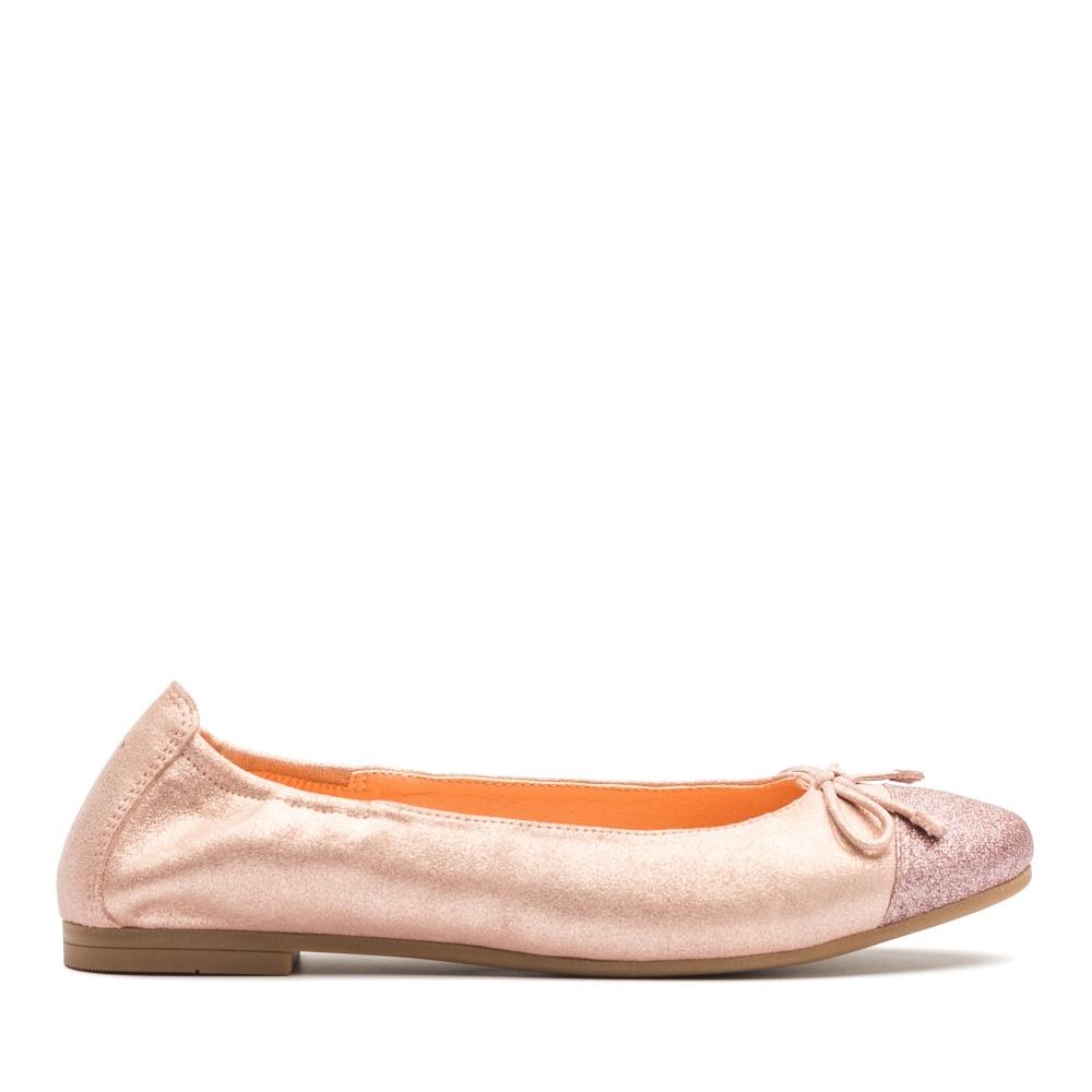 7becd3feb Little girl metallic leather ballerina with bow