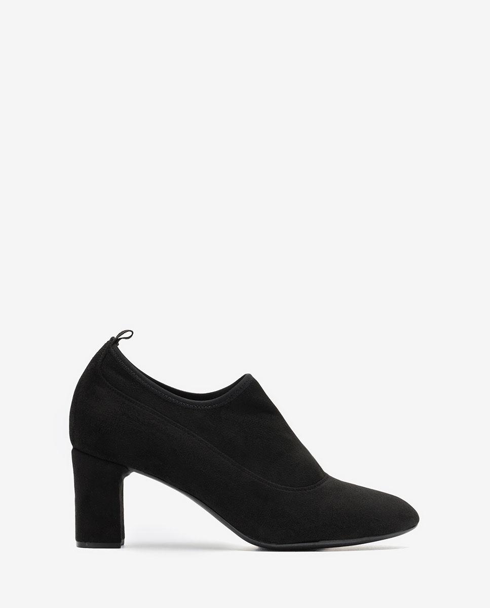 Schwarze elastische Ankle Boots