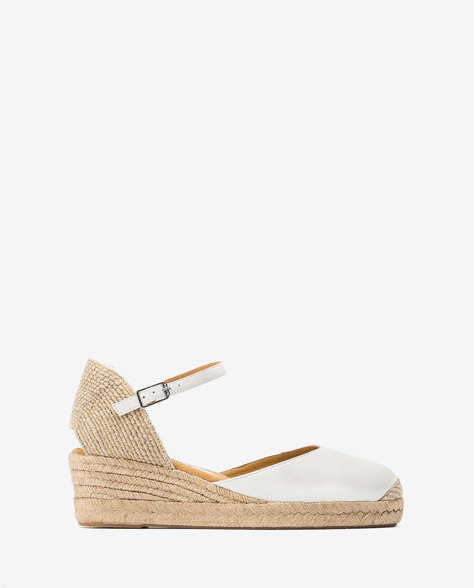 UNISA Low wedge leather espadrilles CISCA_20_STY ivory 2