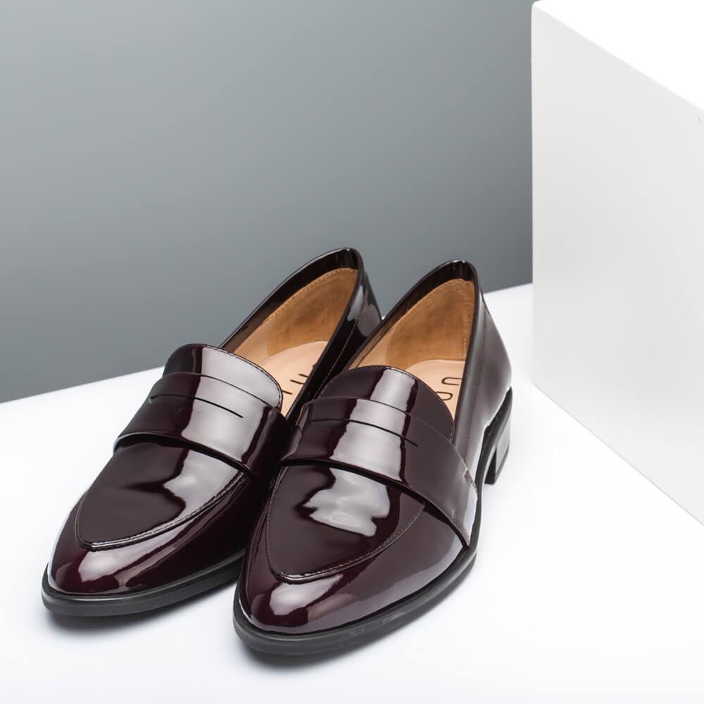 Details zu UNISA Pumps Halb Schuhe Leder spitz Farbe: schwarz Größe: 40 ( 6,5 )