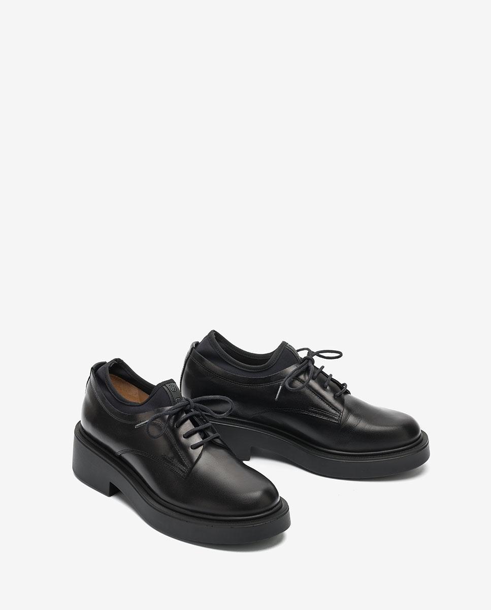 black platform oxford