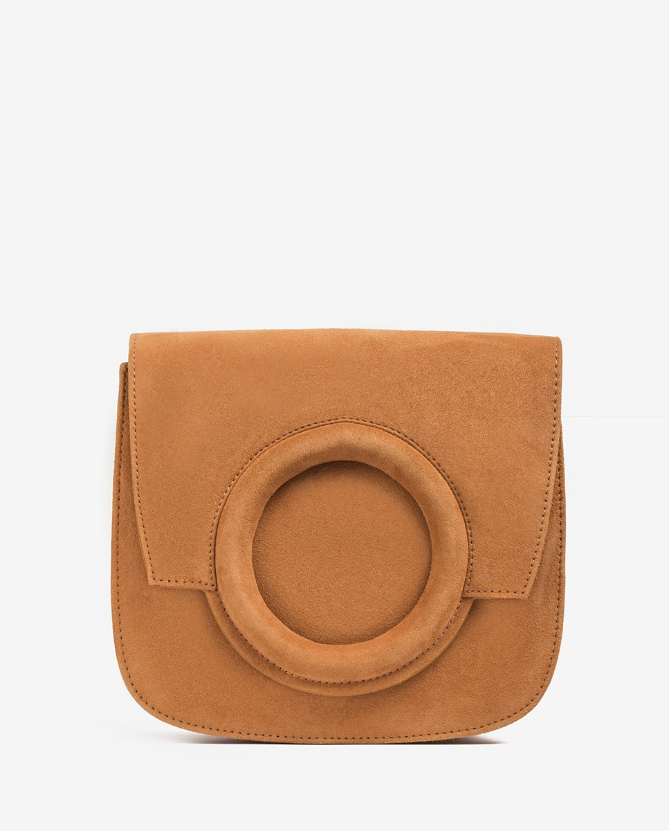 UNISA Kid suede shoulder bag ZFIONA_KS cinamon 2