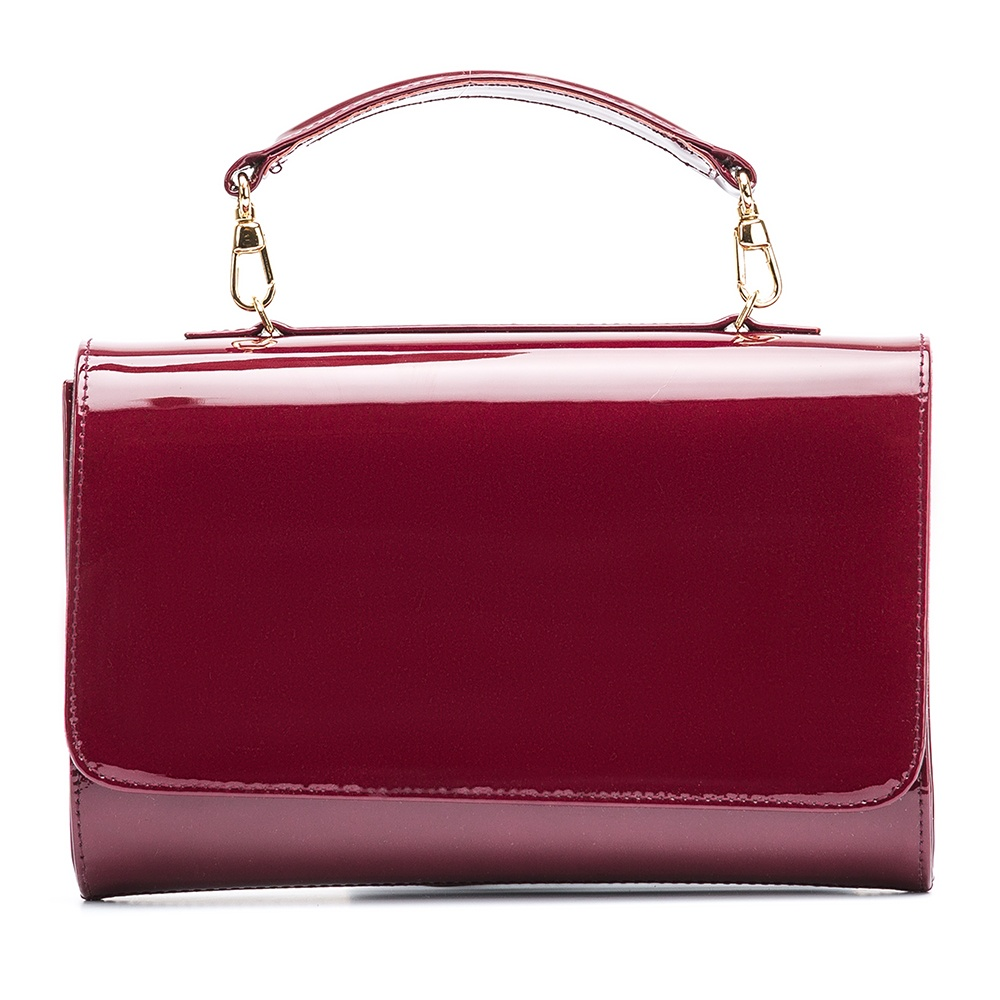 UNISA Patent leather handbag ZCHARLOTE_PA red velvet 2
