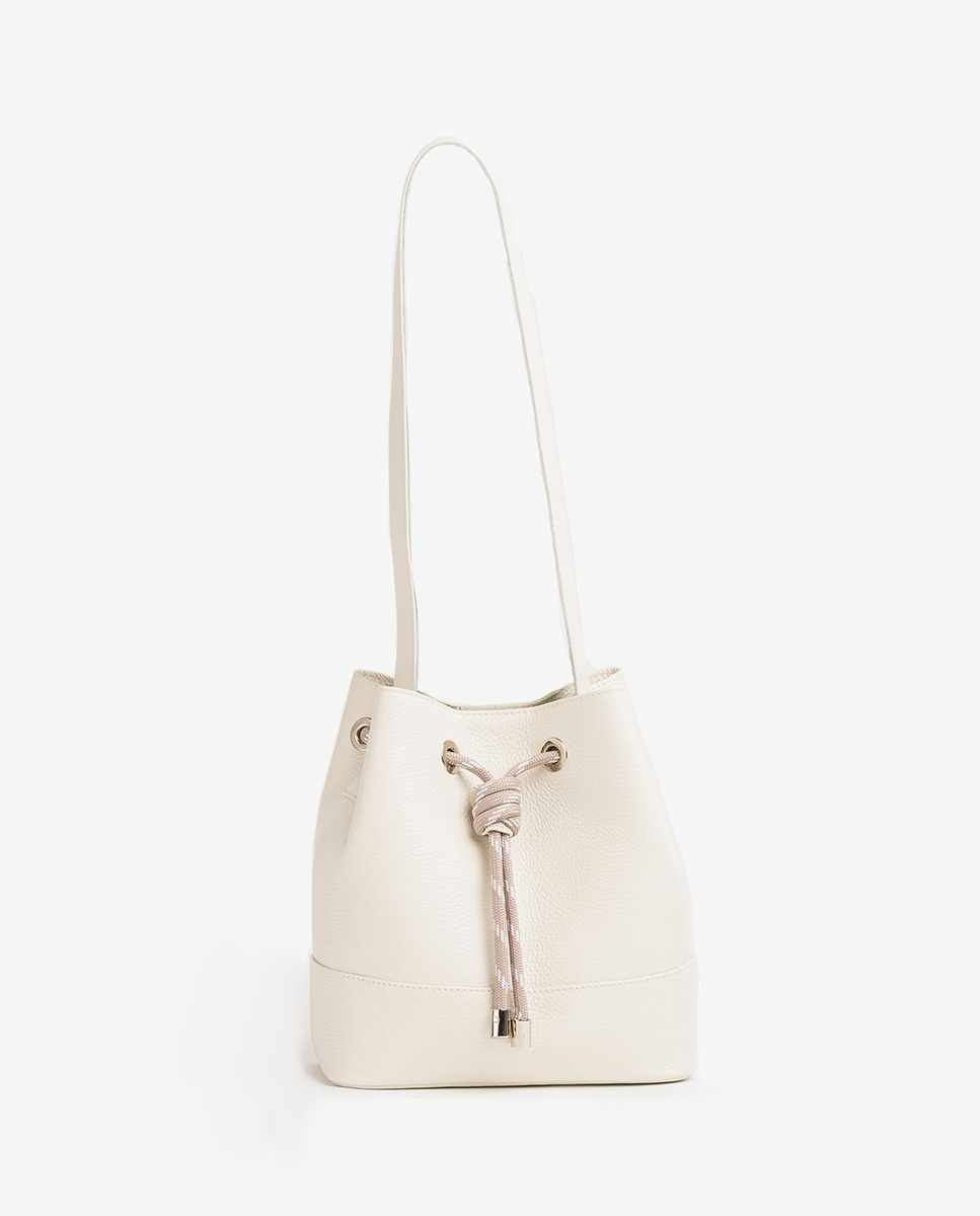 UNISA Bucket Bag aus Leder ZMALIKA_MM ivory 5