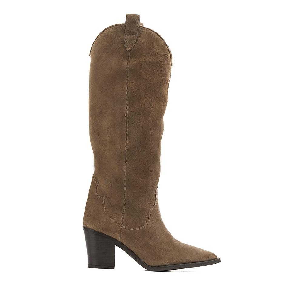 Brown cowboy boot| Unisa