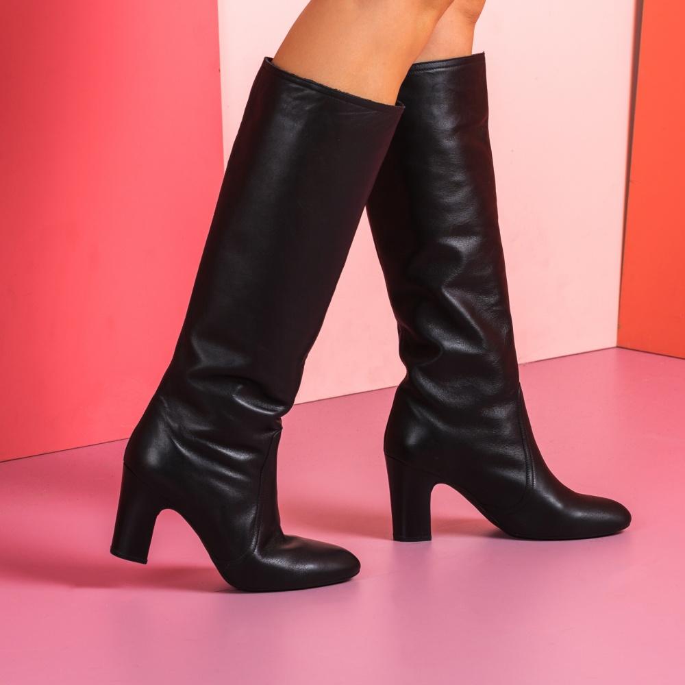 Leather heeled boots UNION_NT | Unisa® 2019
