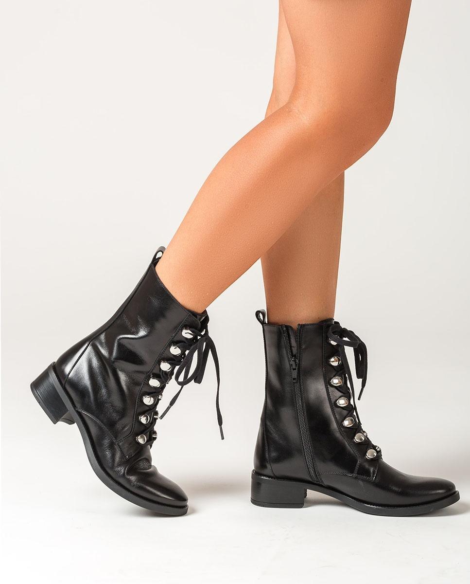Black lace up ankle boots EUGEN_F20_NE