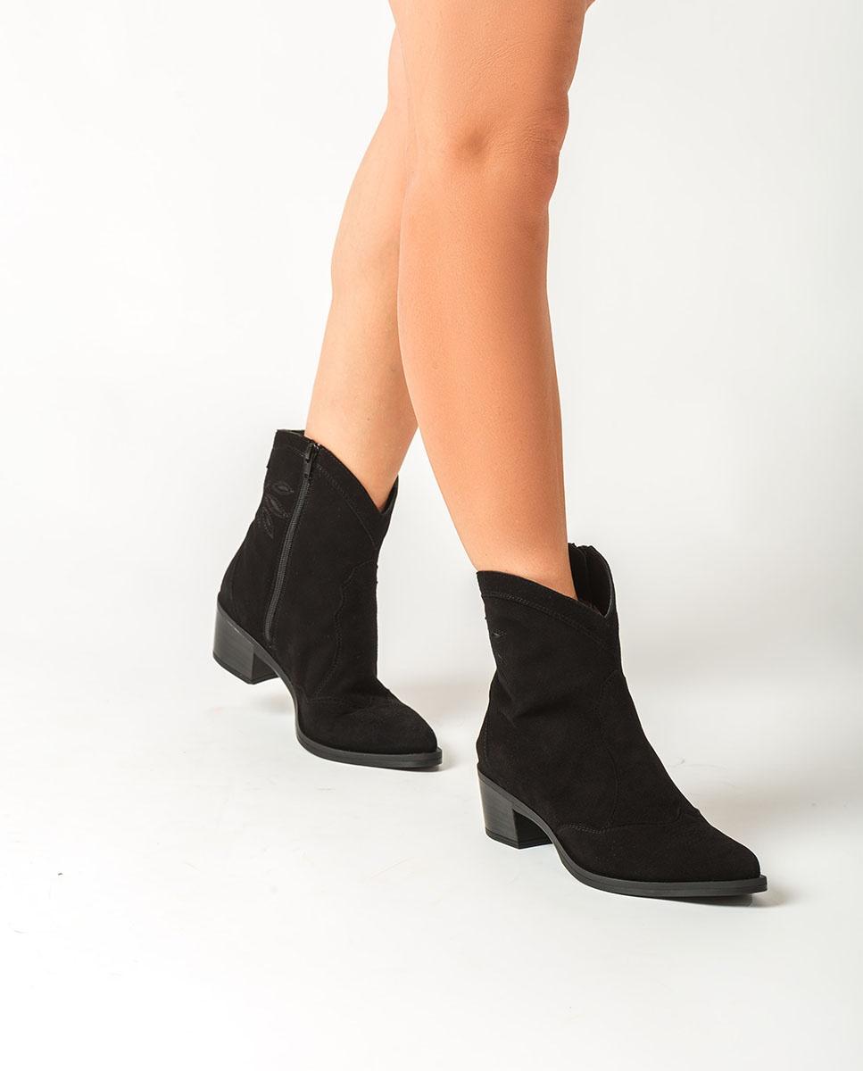 Kid suede cowboy ankle boots GACELA_BS