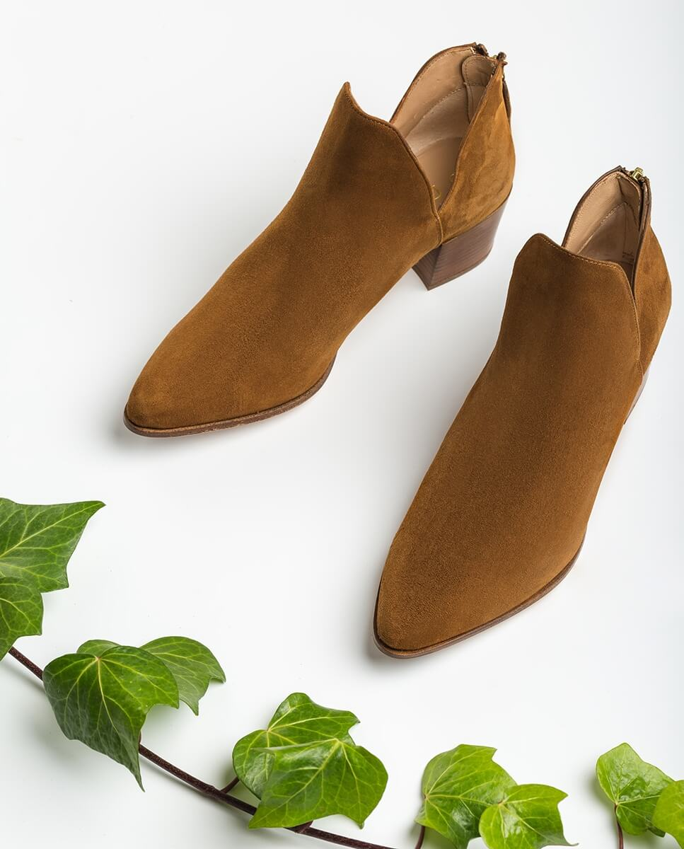 UNISA Kid suede shooties cut-out sides GALEON_KS argan 2