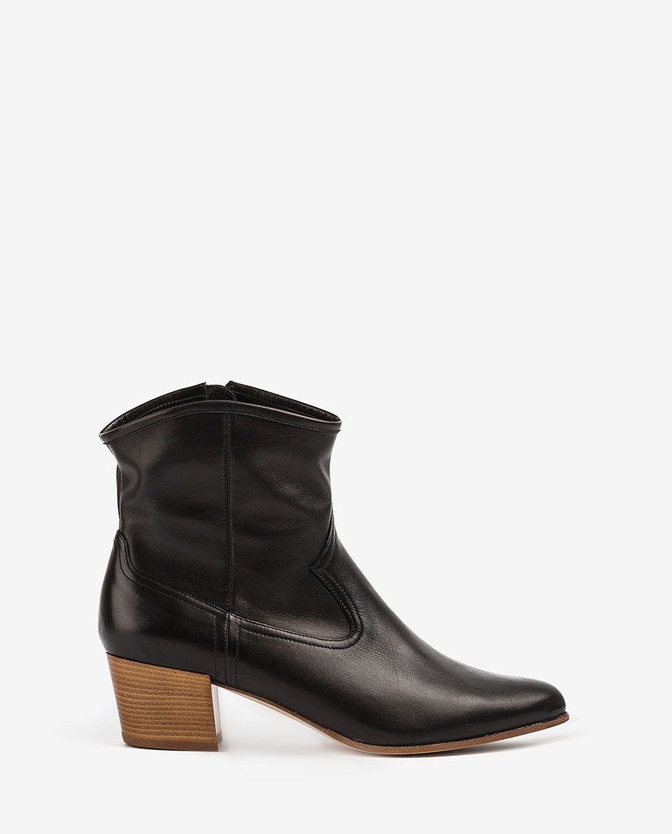 UNISA Leather cowboy booties GALVEZ_VU black 2