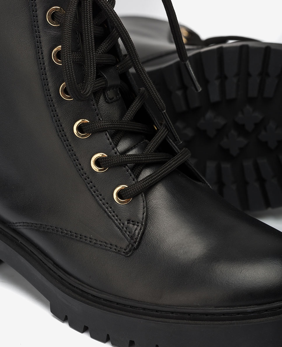 s black military style ankle boots