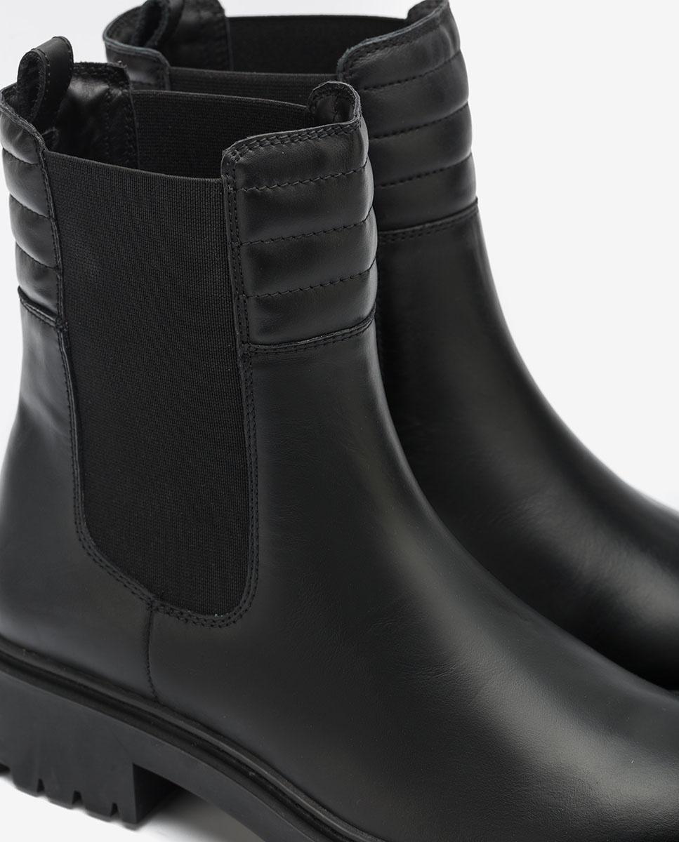 Black Chelsea biker ankle boots