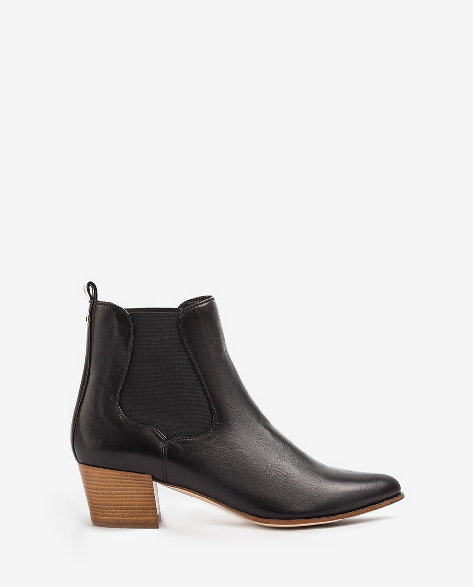 UNISA Leather chelsea cowboy booties GREYSON_20_VU black 2