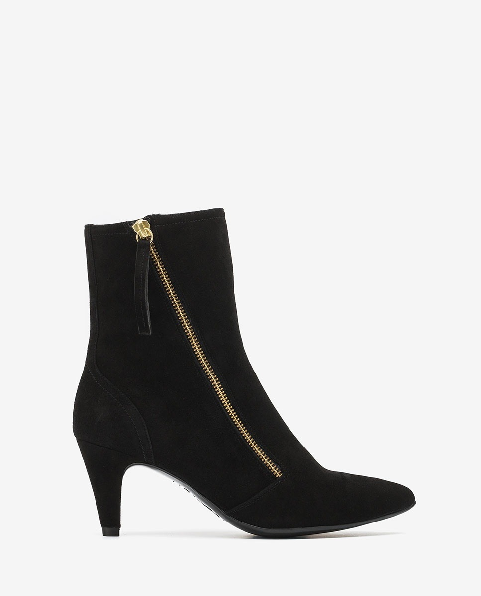 suede ankle boots high heel