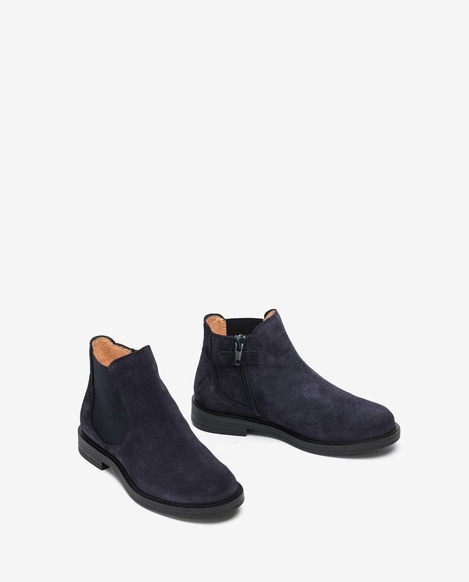 Navy blue ankle booties | UNISA