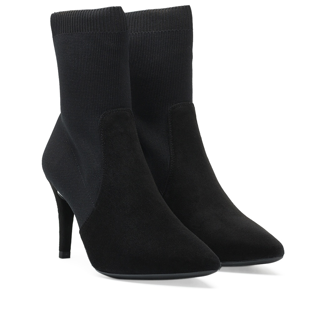 Sock Boots mit Absatz