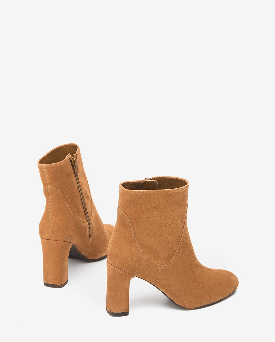 suede ankle booties heels
