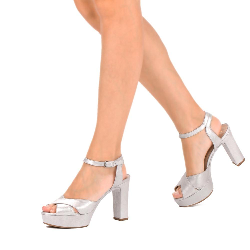 d71be66d3dcd UNISA VENETA MTS TIE - Sandals with platform heels and metallic ...