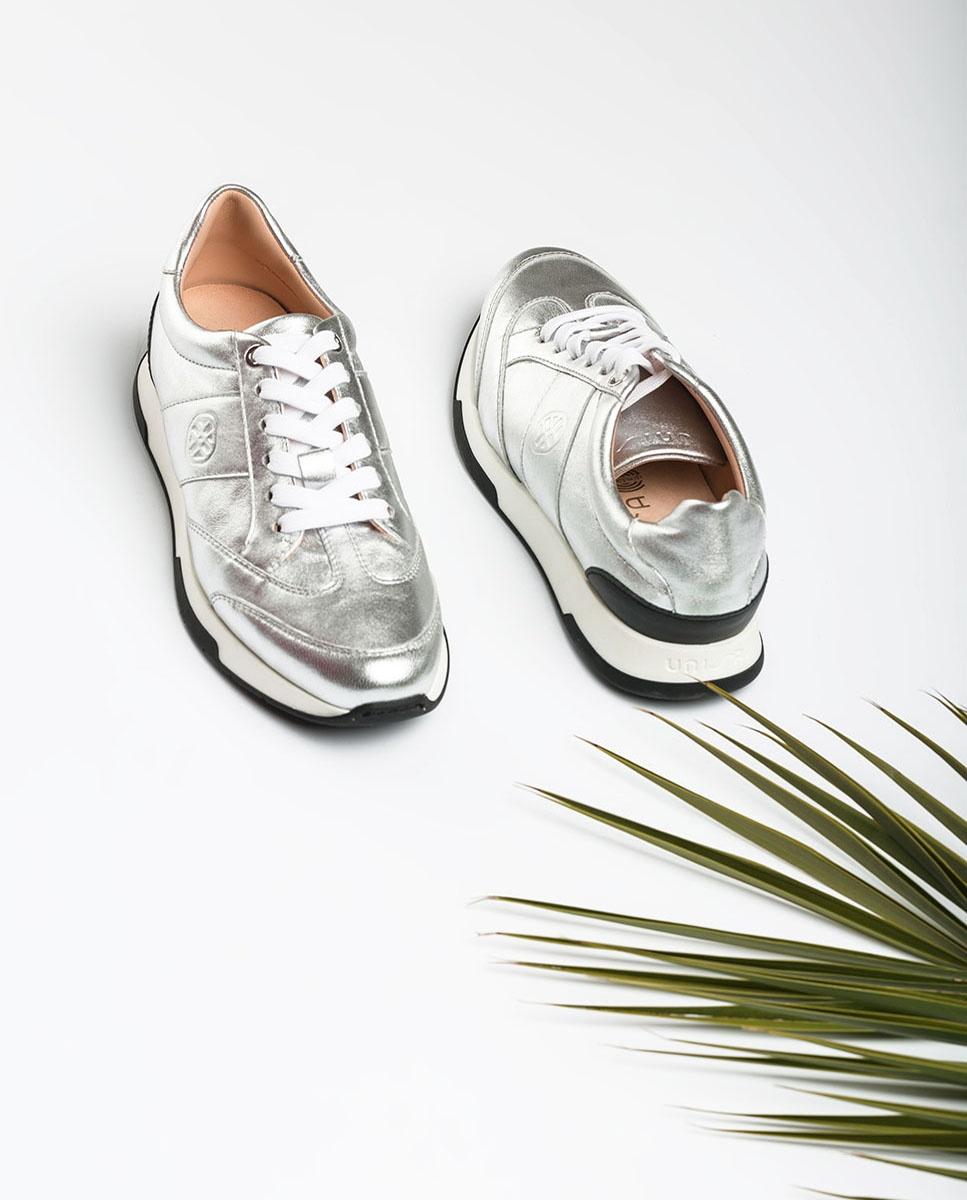 Metallic silver sneakers FALCONI_LMT