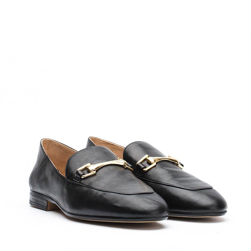 Chaussures à fermeture éclair Café Noir marron femme  Noir (Noir) Mocassins compensés noirs - Unisa l8B7BxQ