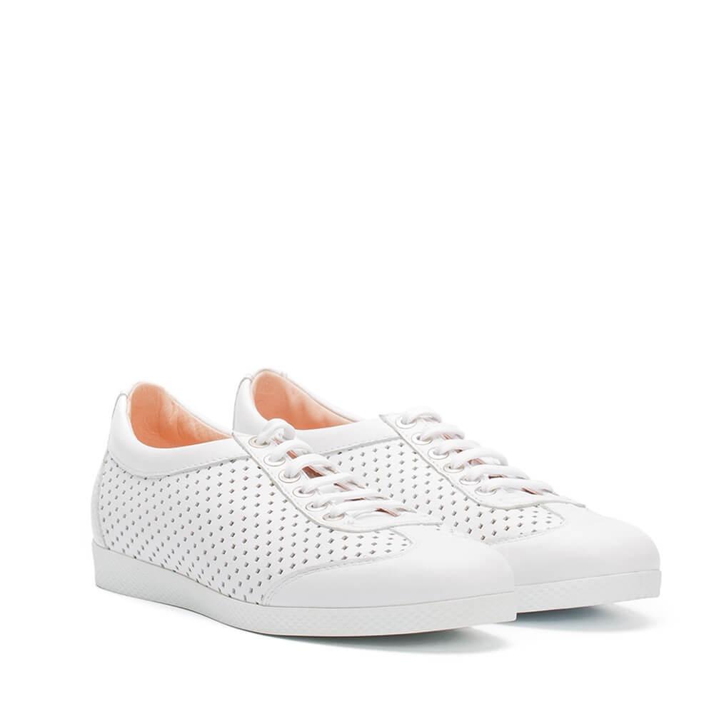 Hohe, weiße RI-Sneakers