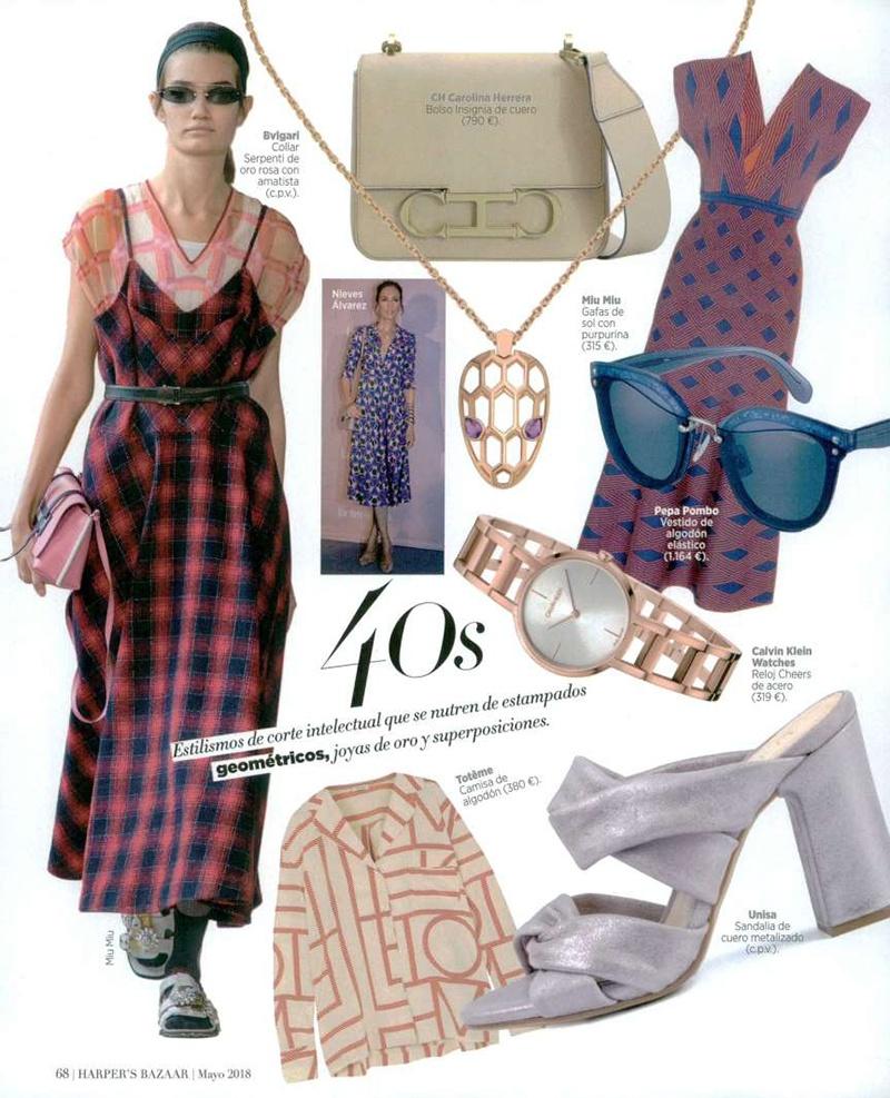 Tendencia Mayo 40 España Harper's Años Bazaar 2018Unisa KcTlF1J