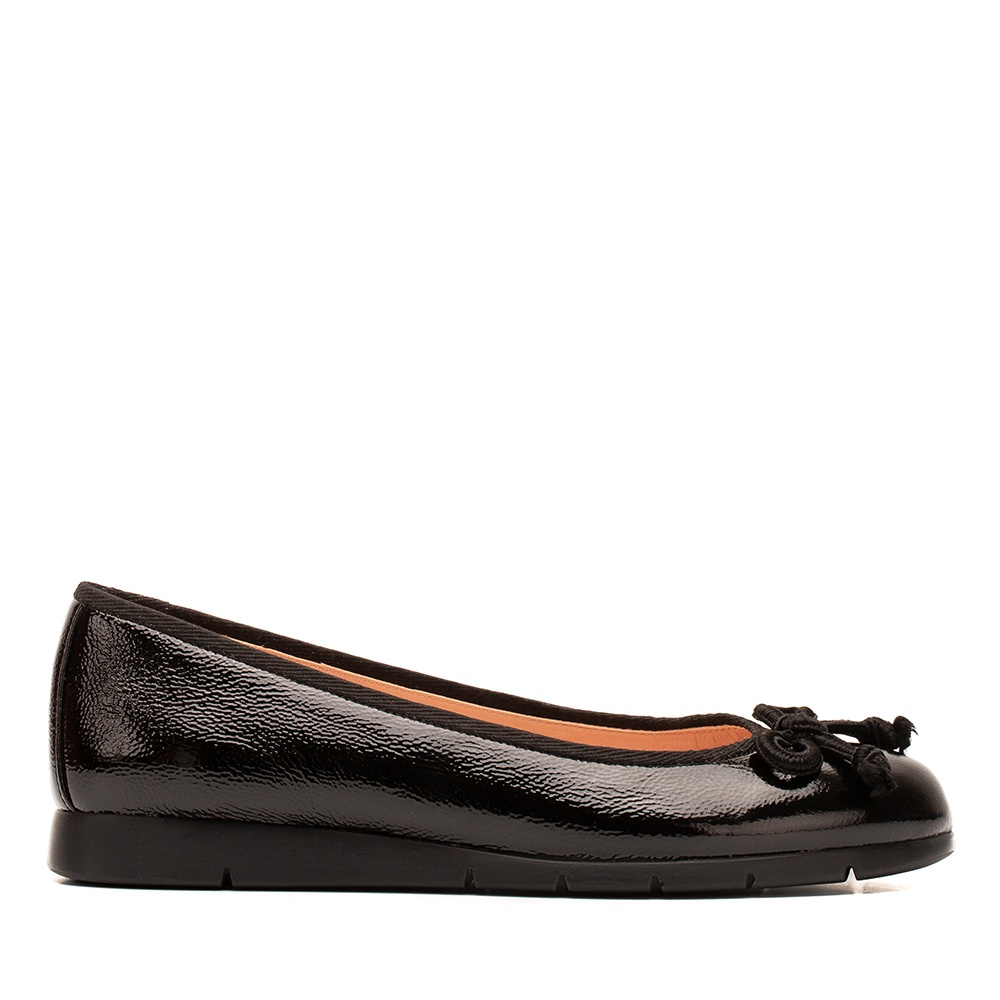 a64ed3ff8 Patent leather ballerina rubber sole