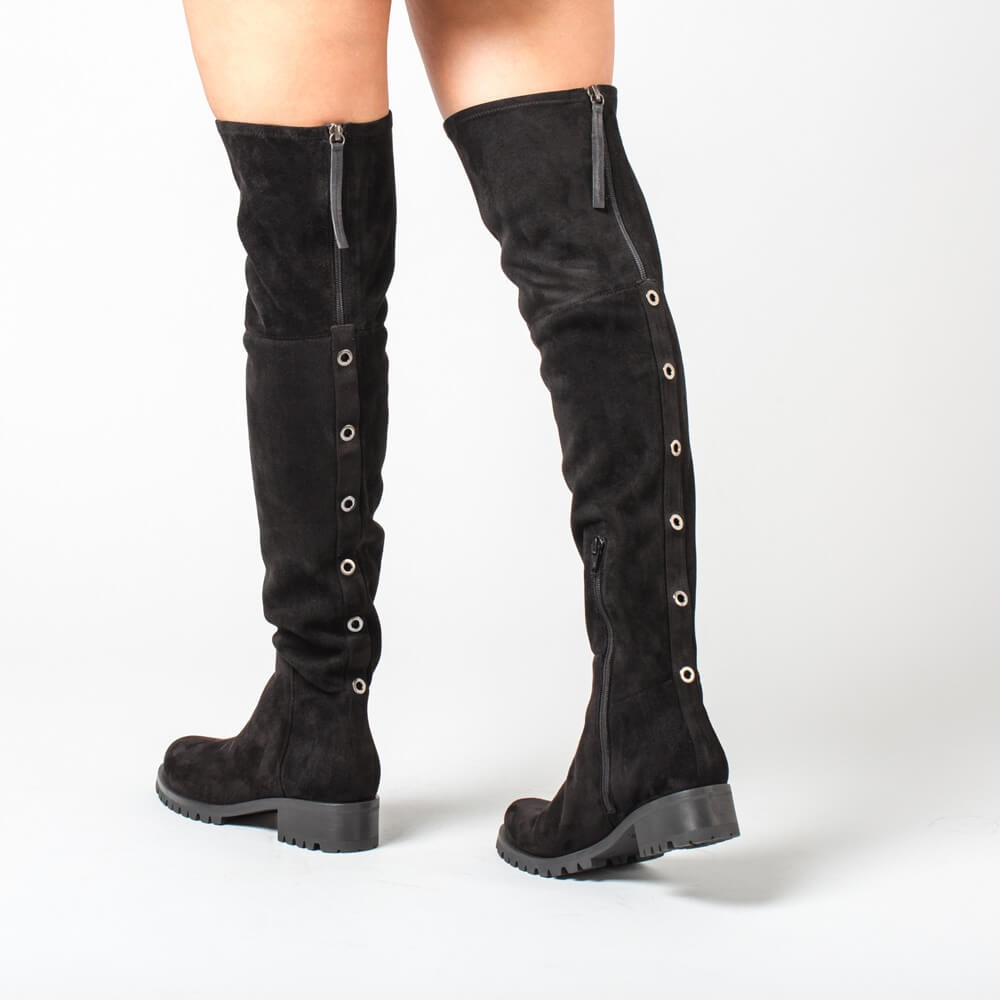 Over the knee boots Isidro Stretch black woman winter Unisa-8